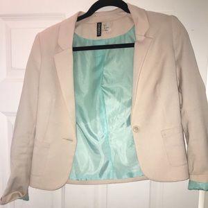 H&M tan blazer size 4 WORN ONCE